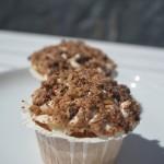 Rabarber crumble cupcake
