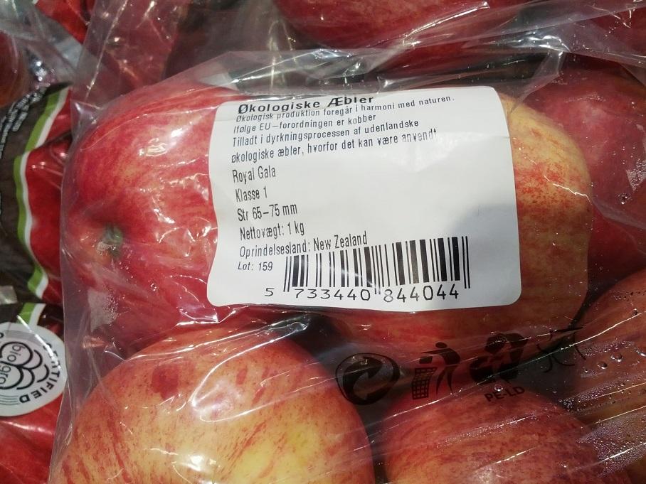 økologiske æbler