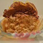Cupcakes med hasselnødder, chokolade og appelsin