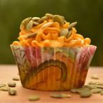 Græskar cupcakes