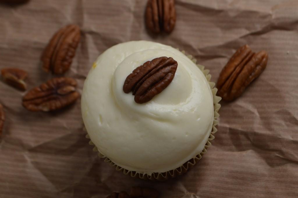 Gulerodscupcakes fra Cupkageriget