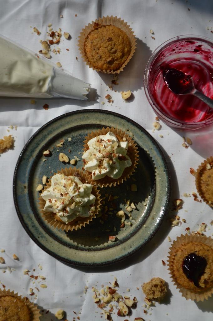 Sønderjysk rugbrødslagkage cupcakes