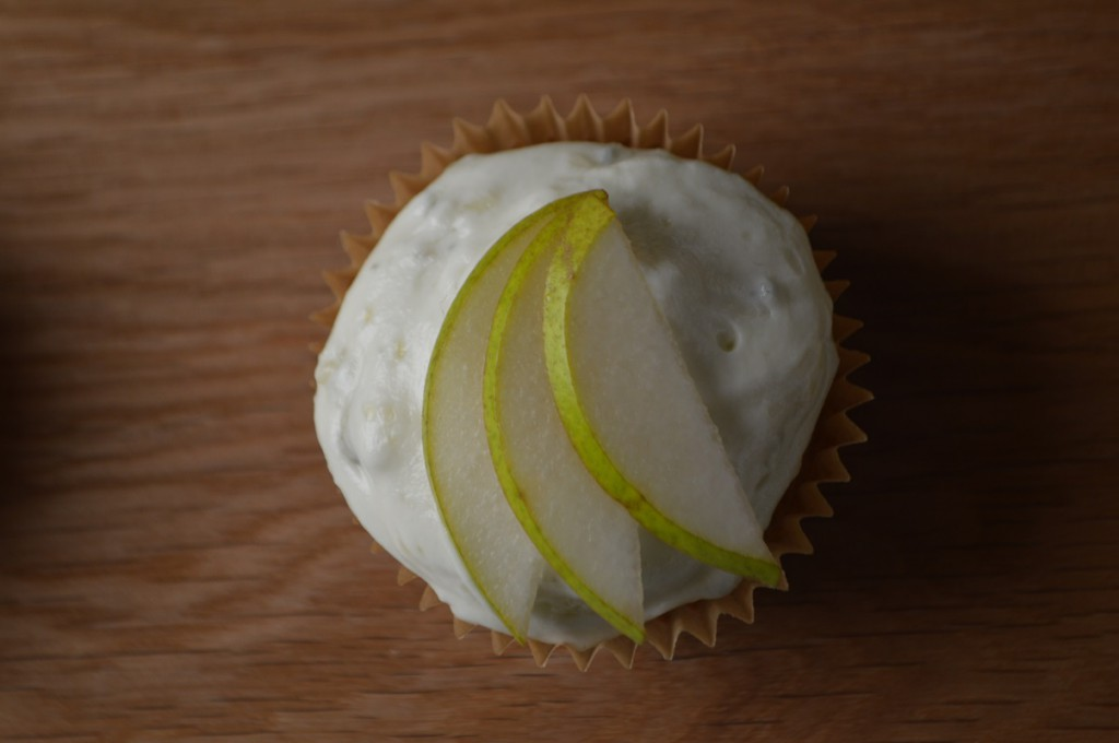 cupcakes med pære