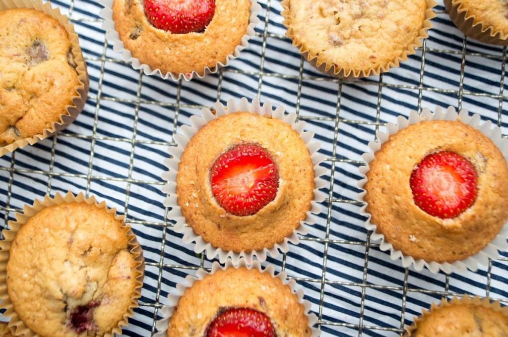 jordbærcupcakes med flødeskum 022