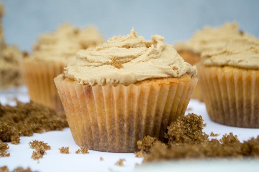 Brunsviger cupcakes kage med brun farin