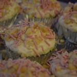 Ris a la mande cupcakes