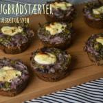 Små rugbrødstærter med spinat, solbær og svin – resultatet af Madbloggerudfordringen#3 del 2