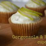 Cupcakes med pære og gorgonzola