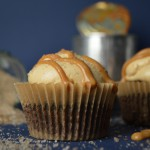 Cupcakes med chokolade, whisky, karamel og røget salt